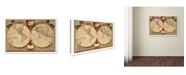 """Trademark Global Vintage Lavoie 'Captain Cooks tracks' Canvas Art - 24"""" x 16"""" x 2"""""""