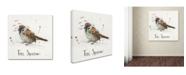 "Trademark Global Michelle Campbell 'Tree Sparrow' Canvas Art - 35"" x 35"" x 2"""