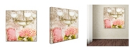 "Trademark Global Tina Lavoie 'Bella Ortensia' Canvas Art - 24"" x 24"" x 2"""