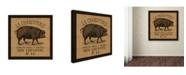 "Trademark Global Marcee Duggar 'French Pig Burlap' Canvas Art - 35"" x 35"" x 2"""
