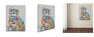 "Trademark Global Oxana Ziaka Cat Canvas Art - 47"" x 35"" x 2"""