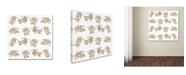 "Trademark Global Miguel Balbas 'Cupids Pattern' Canvas Art - 18"" x 18"" x 2"""