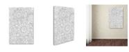 "Trademark Global Miguel Balbas 'Pattern Flowers 2 Line' Canvas Art - 24"" x 16"" x 2"""