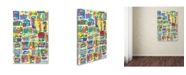 """Trademark Global Miguel Balbas 'Colorful Shapes 1' Canvas Art - 32"""" x 22"""" x 2"""""""