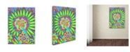 """Trademark Global Miguel Balbas 'Flower Power Fun' Canvas Art - 47"""" x 35"""" x 2"""""""
