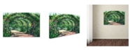 """Trademark Global Susan Rios 'Rose Garden Arches' Canvas Art - 24"""" x 16"""" x 2"""""""