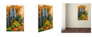 "Trademark Global Wanda Mumm 'Delphiniums and Poppies' Canvas Art - 24"" x 16"" x 2"""