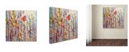 "Trademark Global Sylvie Demers 'Je suis La?' Canvas Art - 18"" x 18"" x 2"""
