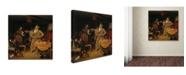 "Trademark Innovations Pavel Fedotov 'The Fresh Cavalier' Canvas Art - 35"" x 35"" x 2"""