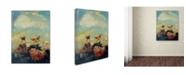 """Trademark Innovations Odilon Redon 'Butterflies' Canvas Art - 24"""" x 18"""" x 2"""""""