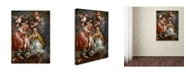 "Trademark Global Peter Paul Rubens 'The Union Of England And Scotland' Canvas Art - 24"" x 18"" x 2"""