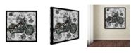 """Trademark Global Jean Plout 'Vintage Motorcycles On Route 66 14' Canvas Art - 35"""" x 35"""" x 2"""""""