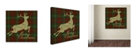 "Trademark Global Jean Plout 'Merry Christmas Plaid 2' Canvas Art - 35"" x 35"" x 2"""