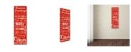 "Trademark Global Jean Plout 'Seasons Greetings' Canvas Art - 24"" x 8"" x 2"""