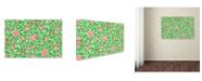 "Trademark Global Jean Plout 'Springtime Botanicals 5' Canvas Art - 19"" x 12"" x 2"""