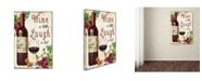"Trademark Global Jean Plout 'Wine 1' Canvas Art - 47"" x 30"" x 2"""