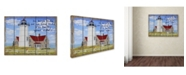 "Trademark Global Jean Plout 'High Tide Lighthouse' Canvas Art - 47"" x 35"" x 2"""