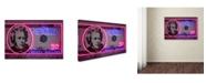 "Trademark Innovations Octavian Mielu '20 dollars' Canvas Art - 19"" x 12"" x 2"""