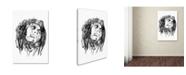 "Trademark Innovations Octavian Mielu 'Bob Marley' Canvas Art - 47"" x 30"" x 2"""