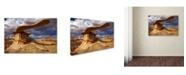 "Trademark Global Mike Jones Photo 'NM Ah-shi-sle-pah King Of Wings' Canvas Art - 32"" x 22"" x 2"""