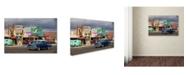 "Trademark Global Mike Jones Photo 'Rt 66 Fun Run Seligman' Canvas Art - 19"" x 12"" x 2"""