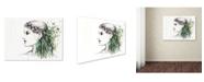 "Trademark Global Michelle Faber 'Forest Lover Girl Portrait' Canvas Art - 47"" x 35"" x 2"""