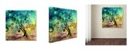 "Trademark Global Natasha Wescoat 'Cyber Spring' Canvas Art - 18"" x 18"" x 2"""