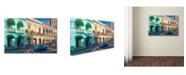 "Trademark Global Robert Harding Picture Library 'Blue Car 1' Canvas Art - 47"" x 30"" x 2"""