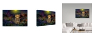 "Trademark Global RUNA 'Night Cat 1' Canvas Art - 19"" x 12"" x 2"""