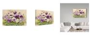 "Trademark Global Joanne Porter 'Purple Pansies' Canvas Art - 24"" x 16"" x 2"""