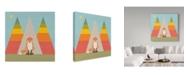 "Trademark Global Tammy Kushnir 'Fox In The Rainbow Forest' Canvas Art - 18"" x 18"" x 2"""