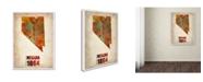 "Trademark Global Naxart 'Nevada Watercolor Map' Canvas Art - 35"" x 47"" x 2"""