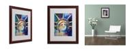"""Trademark Global Richard Wallich 'Statue' Matted Framed Art - 16"""" x 20"""" x 0.5"""""""