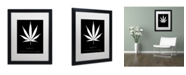 "Trademark Global Potman 'Legalize Quote' Matted Framed Art - 16"" x 20"" x 0.5"""