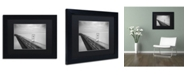 """Trademark Global Moises Levy 'Be Happy' Matted Framed Art - 11"""" x 14"""" x 0.5"""""""