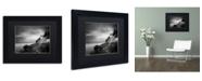 "Trademark Global Moises Levy 'Bass Harbor Lighthouse' Matted Framed Art - 11"" x 14"" x 0.5"""