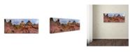 "Trademark Global Moises Levy 'Pink Mountain' Canvas Art - 32"" x 14"" x 2"""
