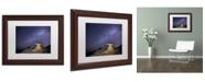 "Trademark Global Moises Levy 'Starry Night in Arizona III' Matted Framed Art - 14"" x 11"" x 0.5"""