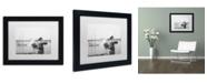 """Trademark Global Moises Levy 'Two Seagulls & Boats' Matted Framed Art - 11"""" x 14"""" x 0.5"""""""