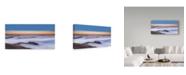 "Trademark Global Jenny Qiu 'Golden Gate Bridge In Fog' Canvas Art - 10"" x 19"" x 2"""