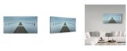 "Trademark Global Mats Reslow 'Crosswalk' Canvas Art - 32"" x 16"" x 2"""