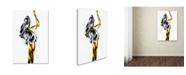 "Trademark Global Roberto Marini 'Naked' Canvas Art - 24"" x 16"" x 2"""