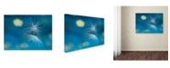 "Trademark Global Xavier Garci 'Blue' Canvas Art - 32"" x 24"" x 2"""