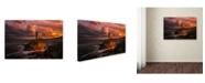 "Trademark Global Denis 'Sun Is Down' Canvas Art - 32"" x 22"" x 2"""