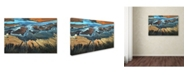 "Trademark Global Tanja Ghirardini 'California Aerial The Desert From Above' Canvas Art - 47"" x 30"" x 2"""