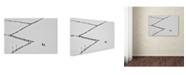 "Trademark Global Cristian Lee 'Entering Geometry' Canvas Art - 19"" x 12"" x 2"""