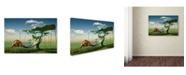 "Trademark Global Radoslav Penchev 'Camping' Canvas Art - 32"" x 22"" x 2"""