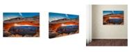"Trademark Global Michael Zheng 'Sunrise At Mesa Arch' Canvas Art - 47"" x 30"" x 2"""