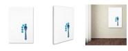 "Trademark Global Sarah Saratonina 'Five Dots And One Spoon' Canvas Art - 24"" x 16"" x 2"""