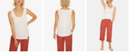 Sanctuary Ruby Solid Scoop-Neck Linen Tank Top